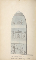 'Sculptured Stone at Amrapore 30 miles NNE of Serah August 31st 1801.'